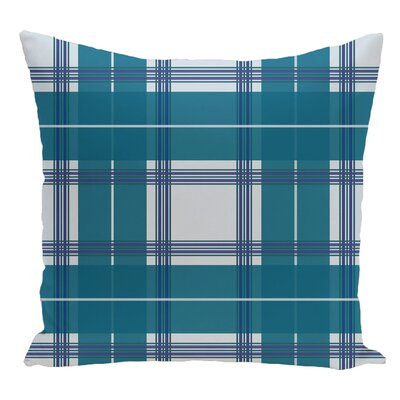 Plaid Decorative Floor Pillow Color: Teal