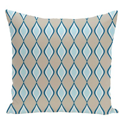 Geometric Decorative Floor Pillow Color: Off White/Blue