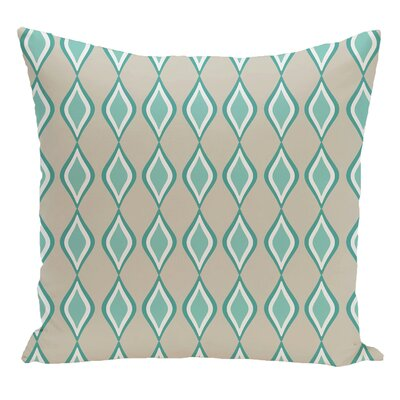 Geometric Decorative Floor Pillow Color: Green/Blue
