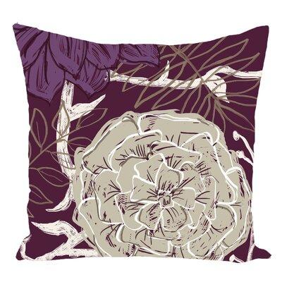 Floral Decorative Floor Pillow Color: Purple/Brown