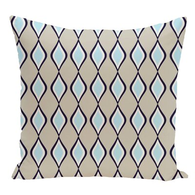 Geometric Decorative Floor Pillow Color: Light Blue/Brown