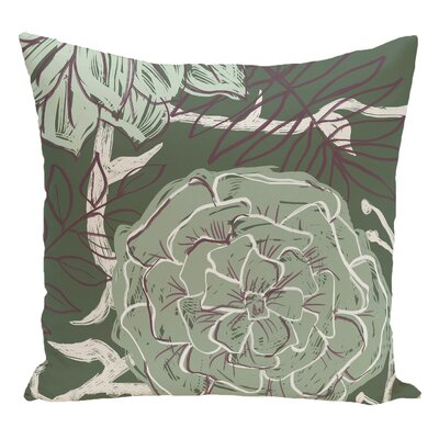 Floral Decorative Floor Pillow Color: Green/Purple