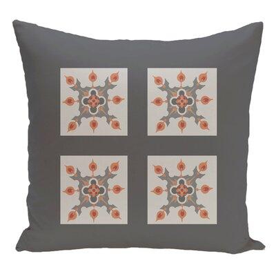 Geometric Decorative Floor Pillow Color: Gray