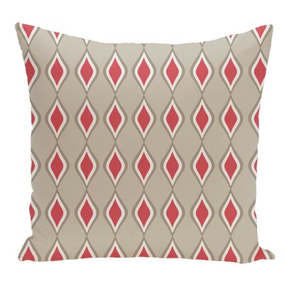 Geometric Decorative Floor Pillow Color: Pink/Brown