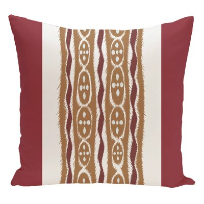 Stripe Decorative Floor Pillow Color: Red/Brown
