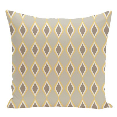 Geometric Decorative Floor Pillow Color: Yellow/Brown