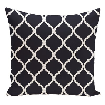 Geometric Decorative Floor Pillow Color: Bewitching Blue