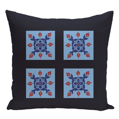 Geometric Decorative Floor Pillow Color: Navy Blue/Blue