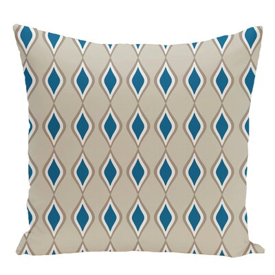 Geometric Decorative Floor Pillow Color: Blue/Brown