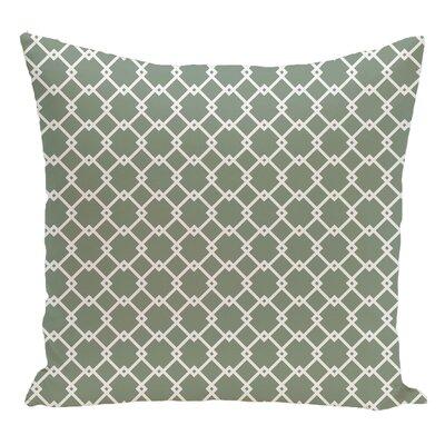 Geometric Decorative Floor Pillow Color: Green