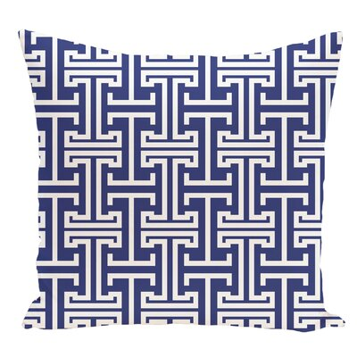 Geometric Decorative Floor Pillow Color: Royal Blue