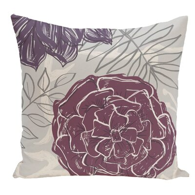 Floral Decorative Floor Pillow Color: Purple
