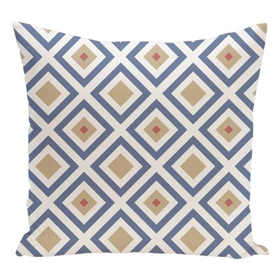 Geometric Decorative Floor Pillow Color: Blue/Taupe