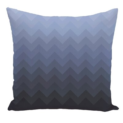 Chevron Decorative Floor Pillow Color: Blue