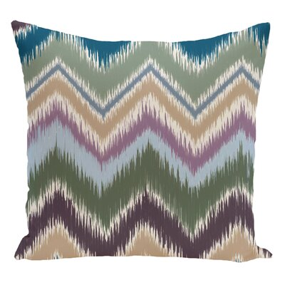 Chevron Decorative Floor Pillow Color: Green/Purple