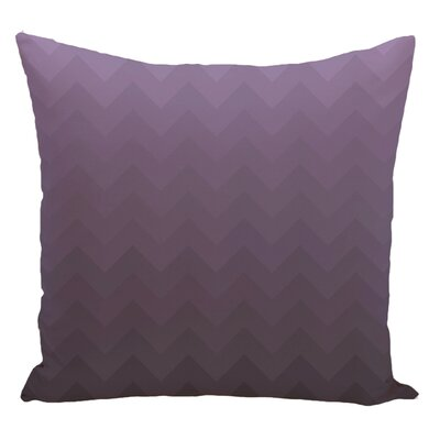 Chevron Decorative Floor Pillow Color: Purple