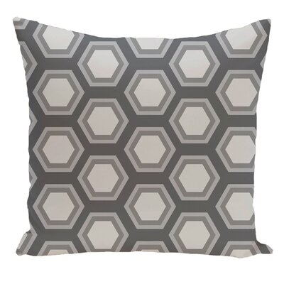 Geometric Decorative Floor Pillow Color: Gray