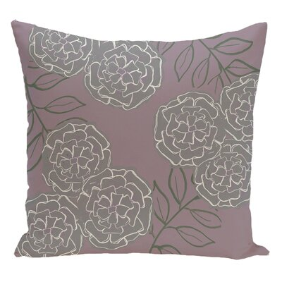 Floral Decorative Floor Pillow Color: Purple/Gray