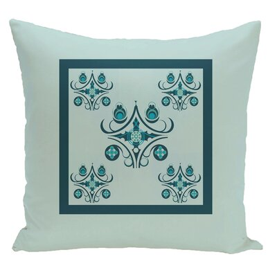 Geometric Decorative Floor Pillow Color: Aqua/Teal