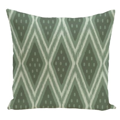 Geometric Decorative Floor Pillow Color: Green