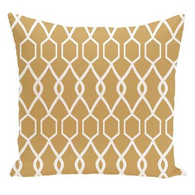 Geometric Decorative Floor Pillow Color: Yellow