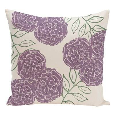 Floral Decorative Floor Pillow Color: Ivory/Lilac