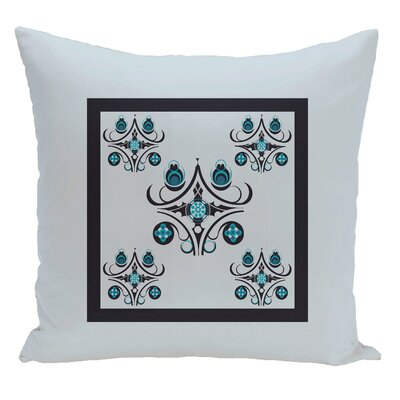 Geometric Decorative Floor Pillow Color: Light Blue/Navy Blue
