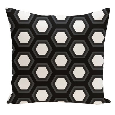 Geometric Decorative Floor Pillow Color: Black