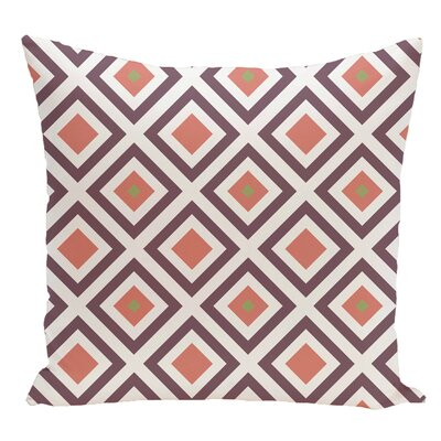 Geometric Decorative Floor Pillow Color: Purple/Orange