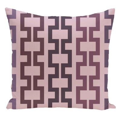 Geometric Decorative Floor Pillow Color: Red/Purple