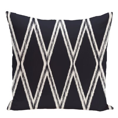 Geometric Decorative Floor Pillow Color: Navy Blue
