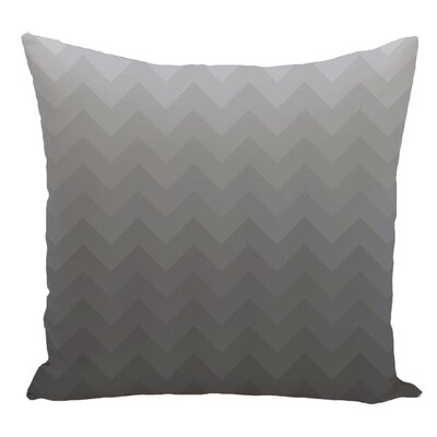 Chevron Decorative Floor Pillow Color: Gray