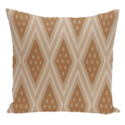 Geometric Decorative Floor Pillow Color: Brown
