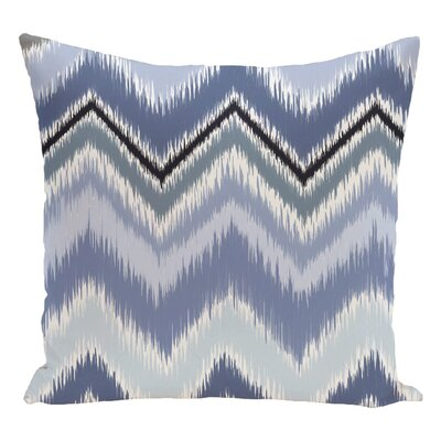 Chevron Decorative Floor Pillow Color: Sky