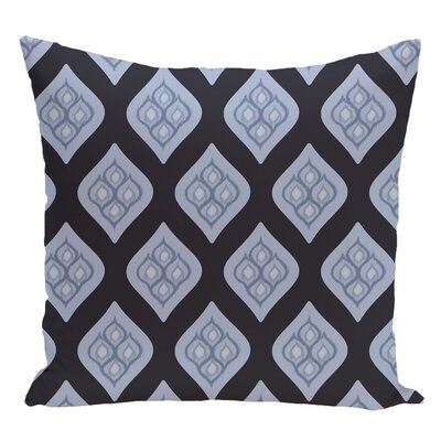 Geometric Decorative Floor Pillow Color: Navy Blue/Light Blue