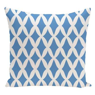 Geometric Decorative Floor Pillow Color: Sky Blue