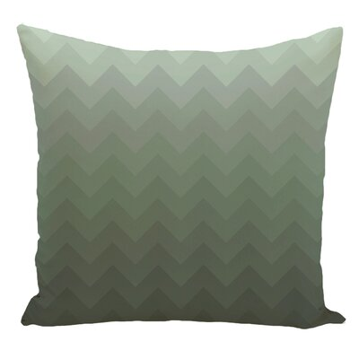 Chevron Decorative Floor Pillow Color: Green