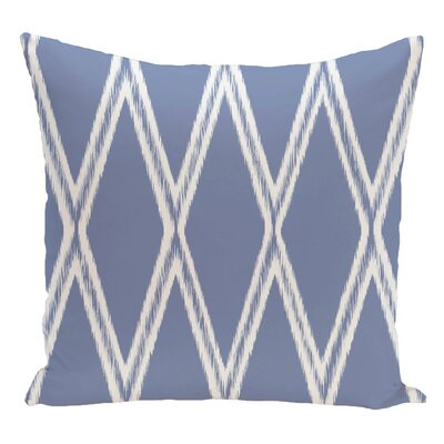 Geometric Decorative Floor Pillow Color: Light Blue