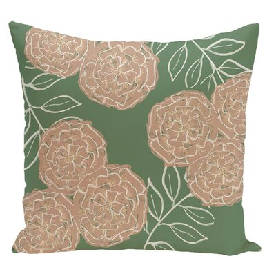 Floral Decorative Floor Pillow Color: Green/Brown
