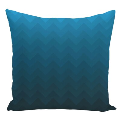 Chevron Decorative Floor Pillow Color: Teal