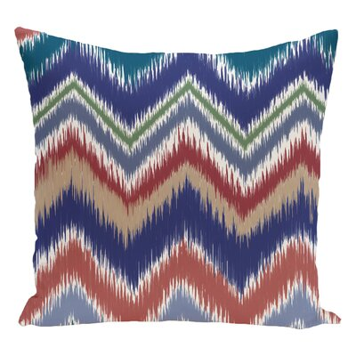 Chevron Decorative Floor Pillow Color: Brown/Red