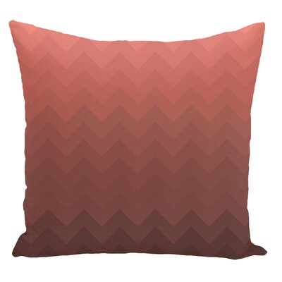 Chevron Decorative Floor Pillow Color: Brown