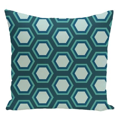Geometric Decorative Floor Pillow Color: Green/Light Green