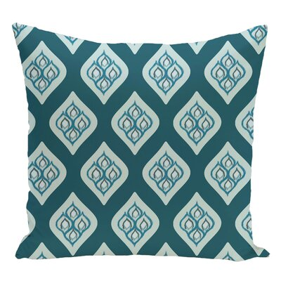 Geometric Decorative Floor Pillow Color: Teal/Aqua