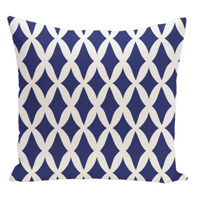 Geometric Decorative Floor Pillow Color: Dazzling Blue