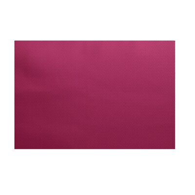 Solid Decorative Fushia Outdoor Area Rug