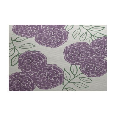 Mums the Word Floral Print Sachet Outdoor Area Rug