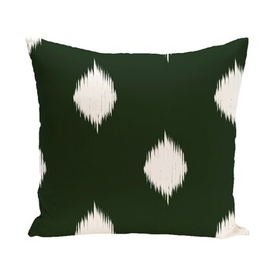 Leporis Decorative Holiday Ikat Print Throw Pillow Size: 18 H x 18 W, Color: Dark Green
