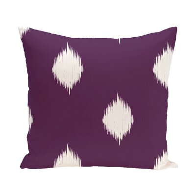Leporis Decorative Holiday Ikat Print Throw Pillow Size: 18 H x 18 W, Color: Purple