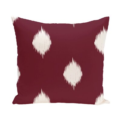 Leporis Decorative Holiday Ikat Print Throw Pillow Size: 26 H x 26 W, Color: Cranberry / Burgundy